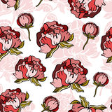 Seamless floral background. Stylish floral seamless pattern background Royalty Free Stock Photography