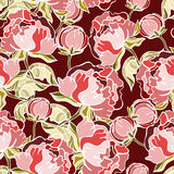Seamless floral background. Stylish floral seamless pattern traditional Royalty Free Stock Images