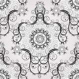Seamless floral background. Beautiful vector illustration, detailed drawing Stock Photos