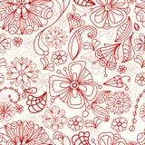 Seamless floral background. Seamless doodle tender floral background, illustration Royalty Free Stock Image