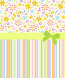 Seamless  floral  background. Template frame design for card Royalty Free Stock Images