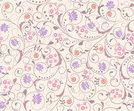 Seamless  floral  background. Seamless abstract pink  floral  background Royalty Free Stock Images