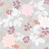 Seamless  floral background. Seamless grey abstract floral background Stock Images