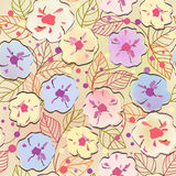 Seamless  floral background. Seamless pink abstract floral background Stock Photography