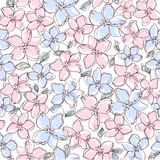 Seamless  floral background. Seamless abstract pink  floral background Royalty Free Stock Photos