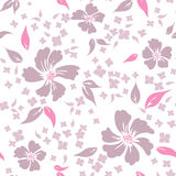 Seamless floral background. Seamless abstract pink floral background Stock Image