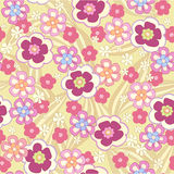 Seamless floral background. Seamless grey abstract floral background Royalty Free Stock Images