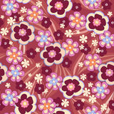 Seamless floral background. Seamless red abctract floral background Stock Illustration