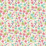 Seamless floral background. With Pink and Blue flowers Royalty Free Stock Images