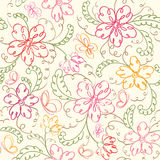 Seamless  floral   background. With butterfly Stock Photography