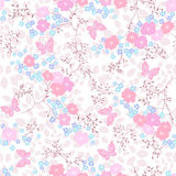 Seamless floral background. Seamless pink abstract floral background Stock Photo