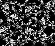 Seamless floral background. Traditional style damask pattern background vector illustration
