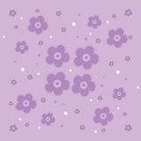 Seamless floral background. Repeating vector backdrop, with dots, flowers Stock Photos