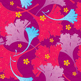 Seamless floral background. Abstract decorative seamless background with flowers vector illustration
