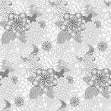 Seamless floral background. Seamless vector background, wallpaper, floral ornament with leaves and multiple flowers Stock Image