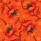 Seamless floral background. With poppy Royalty Free Stock Photos
