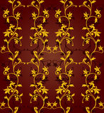 Seamless floral background. Vector seamless floral pattern on dark  background Royalty Free Stock Image
