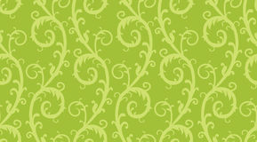 Seamless floral background. Seamless green damask floral background Stock Images