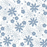 Seamless  floral  background. Seamless abstrac blue floral  background Royalty Free Stock Photos