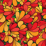 Seamless floral background with abstract flowers Stock Image