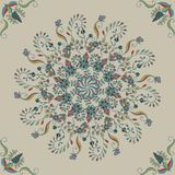 Seamless Floral background. Abstract ornament pattern. Template of Decorative Frame. Vector Vintage Seamless Pattern Stock Photography