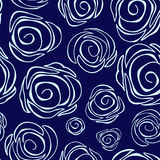 Seamless floral background. abstract rose.  illustration Royalty Free Stock Photo