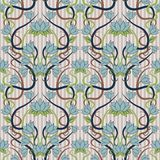 Seamless floral background in art nouveau style Stock Images