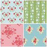 Seamless Floral Background Beautiful Set Stock Images