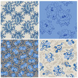 Seamless Floral Background Set Stock Photos