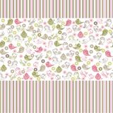 Seamless floral background with birds in vector. Colorful seamless pattern - birds in flowers Royalty Free Stock Images