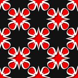 Seamless floral background. Black and red 3d pattern. Vector illustration Stock Images
