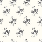 Seamless floral background. With black retro roses Stock Photography