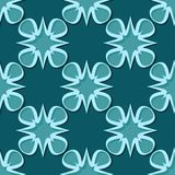 Seamless floral background. Blue green 3d pattern. Vector illustration Stock Photography