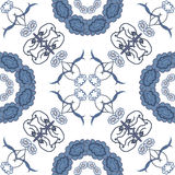 Seamless floral background, blue symbolical Royalty Free Stock Photo