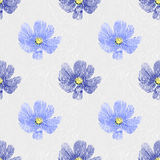 Seamless floral background. Blue vintage flowers. Texture Royalty Free Stock Photography