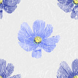 Seamless floral background. Blue vintage flowers. Texture. Vector illustration Royalty Free Stock Image