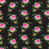 Seamless floral background. Bright seamless floral background with roses Royalty Free Stock Photo