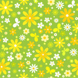 Seamless floral  background with  butterfly. Spring seamless floral  background with  butterfly Royalty Free Stock Photo
