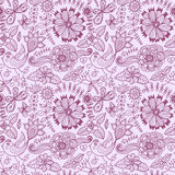 Seamless floral background. Copy that square to the side and you Stock Image