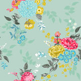 Seamless Floral Background. For design, scrapbook - in vector Royalty Free Stock Photos