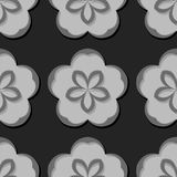 Seamless floral background. Gray 3d pattern. Vector illustration Stock Images
