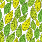 Seamless floral background, green leaves pattern Royalty Free Stock Photography