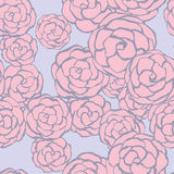 Seamless floral background with hand drawn gentle roses. Vector/ Royalty Free Stock Photography
