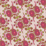 Seamless floral background. Hand drawn vector illustration Stock Images