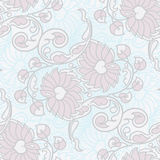 Seamless floral background. Hand drawn vector illustration Stock Photography