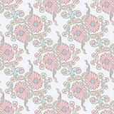 Seamless floral background. Hand drawn vector illustration Stock Image