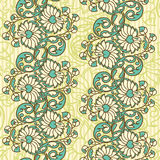 Seamless floral background. Hand drawn vector illustration Stock Photos
