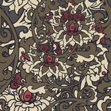 Seamless floral background. Hand drawn vector illustration Royalty Free Stock Photos