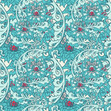 Seamless floral background. Hand drawn vector illustration Royalty Free Stock Image