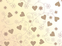 seamless floral background with hearts Stock Photography